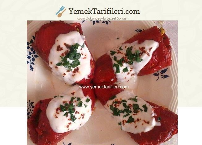Patlıcanlı Kırmızı Biber Dolması Tarifi